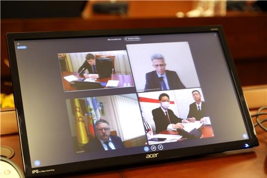 Глава администрации Порецкого района Евгений Лебедев в режиме видео-конференц-связи принял участие в совещании по развитию инвестиционного проекта «Сычуань-Чувашия»