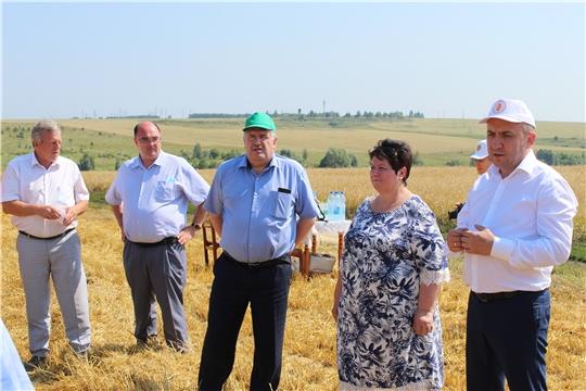 Встреча с министром – на хлебном поле