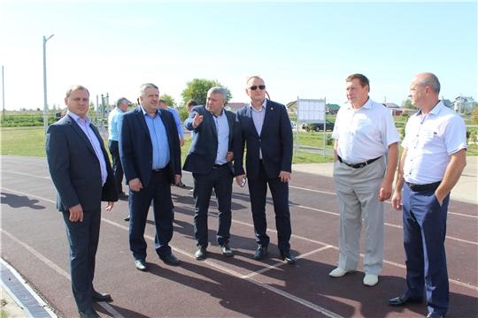 Порецкий район посетил министр физической культуры и спорта Чувашской Республики Василий Петров