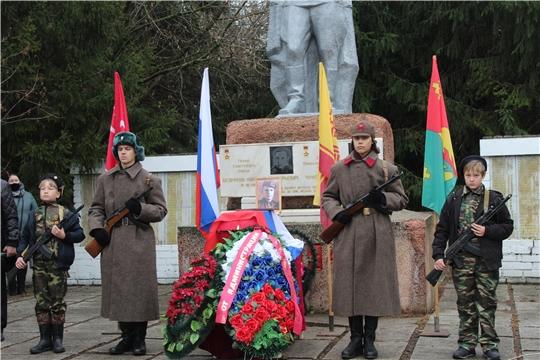 Траурная церемония перезахоронения останков воина Василия Петровича Меньшова, погибшего в годы Великой Отечественной войны