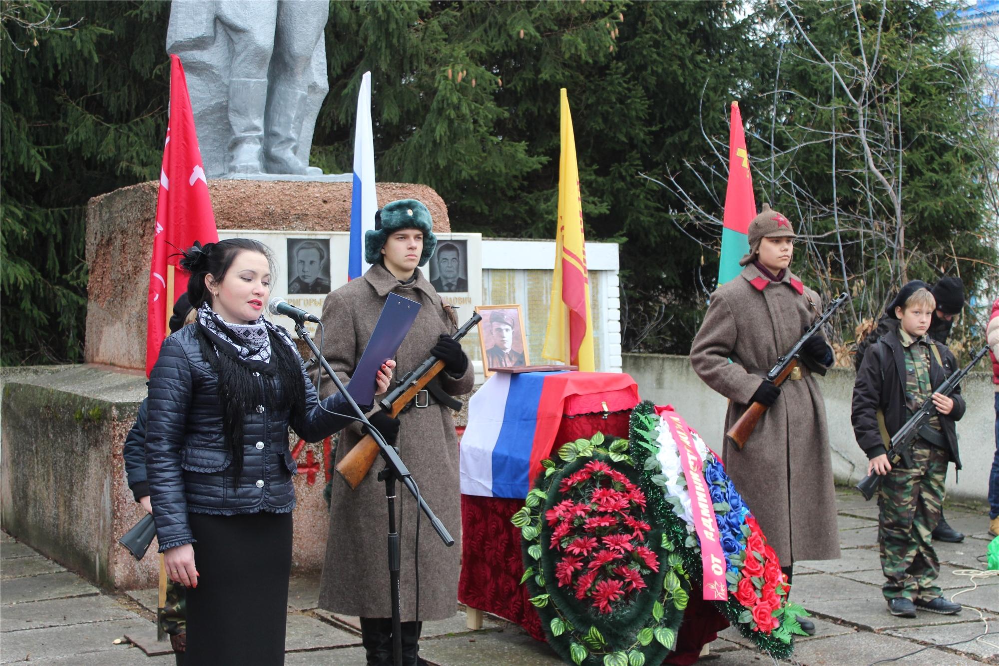 В Порецком районе прошла траурная церемония перезахоронения останков воина Василия Петровича Меньшова, погибшего в годы Великой Отечественной войны
