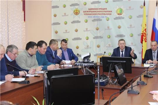 В администрации Шемуршинского района состоялось совещание по вопросу собираемости ТКО