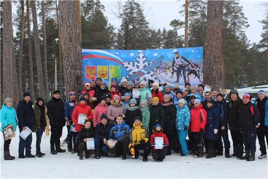 В Шемуршинском районе в честь открытия зимнего сезона прошла лыжная эстафета