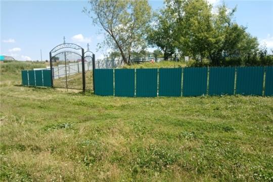 Замена ограды кладбища в деревне Какерли- Шигали