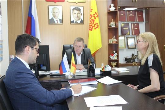 Шемуршинский район посетил исполняющий обязанности министра экономического развития и имущественных отношений Чувашской Республики Дмитрий Иванович Краснов