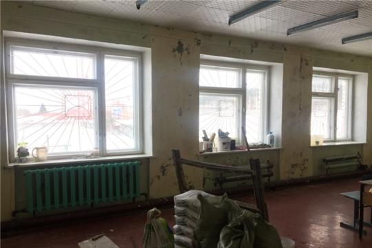 Начался ремонт в Нижнекумашкинской сельской библиотеке.