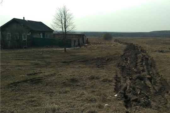 В Шумерлинском районе  производится опашка населенных пунктов