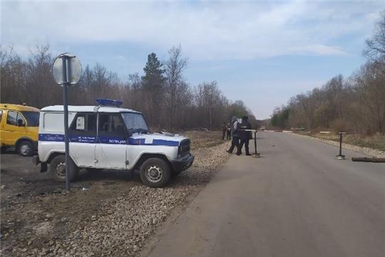 На понтонном мосту, соединяющим Шумерлинский район  с Нижегородской областью, организован пропускной пункт