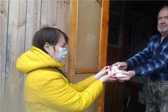 В Шумерлинском  районе волонтеры оказывают  помощь пожилым жителям деревень и сел.
