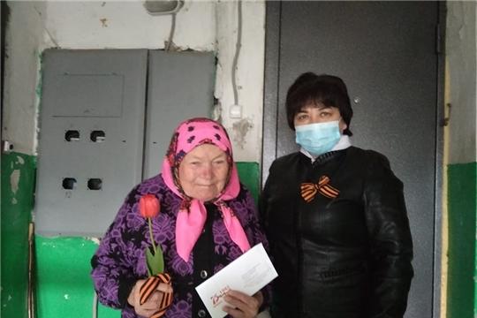 Поздравления с Днем Победы тружеников тыла в Торханском поселении