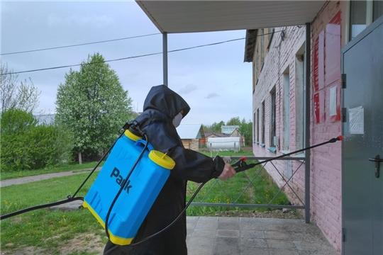 В Магаринском сельском поселении провели работы по дезинфекции мест общего пользования