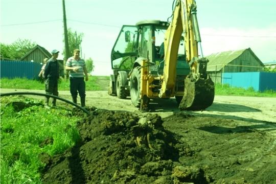 Начались работы по реконструкции водопроводных сетей в Туванском сельском поселении