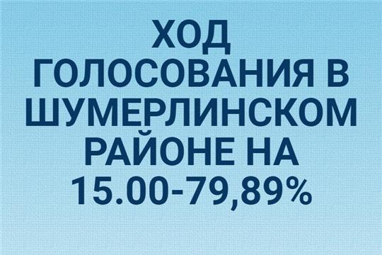 Ход голосования в Шумерлинском  районе на 15.00 часов по местному времени