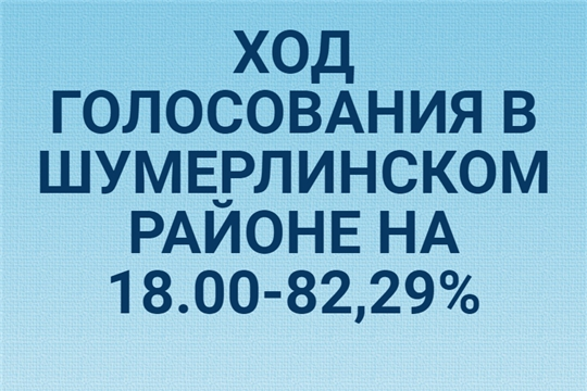 Ход голосования в Шумерлинском районе на 18.00 часов по местному времени