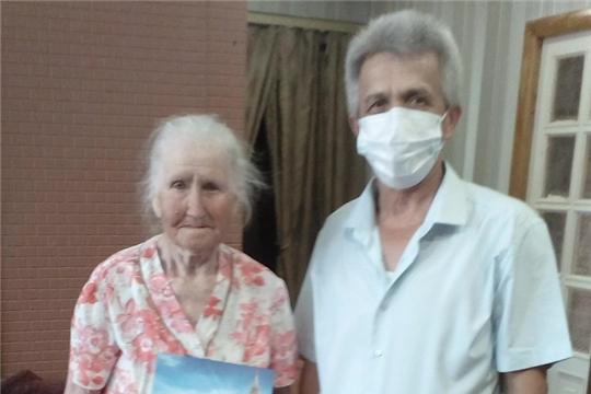 Жительница деревни Бреняши отмечает 95-летний юбилей