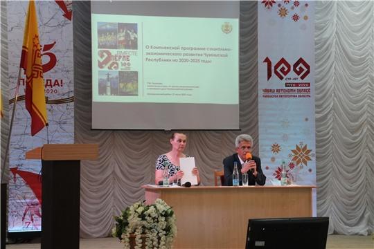 Шумерлинский район с рабочим визитом посетила министр культуры, по делам национальностей и архивного дела Чувашской Республики Роза Лизакова
