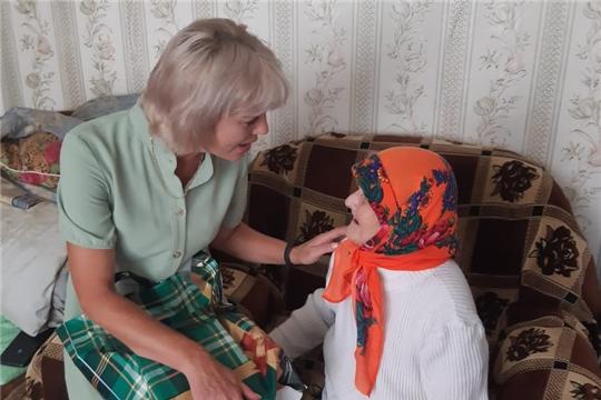 Жительницу поселка Красная Звезда поздравили с 95-летним юбилеем