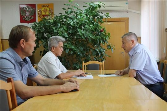 Шумерлинский район с рабочим визитом посетил председатель Государственного комитета Чувашской Республики по делам гражданской обороны и чрезвычайным ситуациям Вениамин Петров