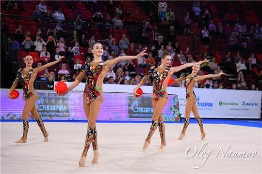 Евгения Леванова - победительница Московского этапа Гран-при по художественной гимнастике в групповых упражнениях