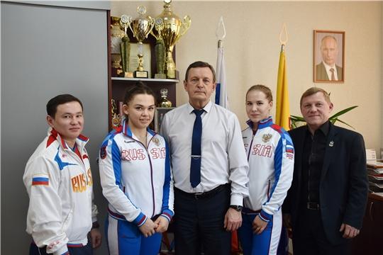 Встреча М.Богаратова с медалистами Кубка России по тяжёлой атлетике