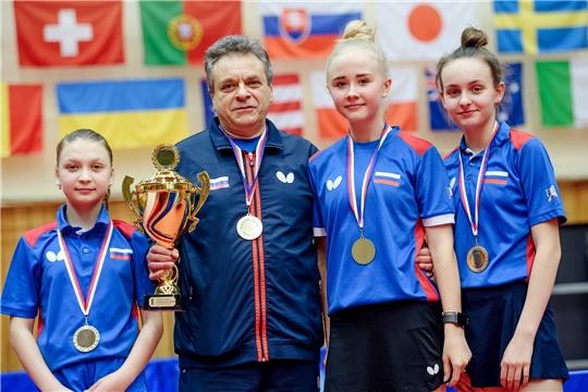 Анастасия Иванова завоевала «золото» и «бронзу» открытого первенства Чехии по настольному теннису