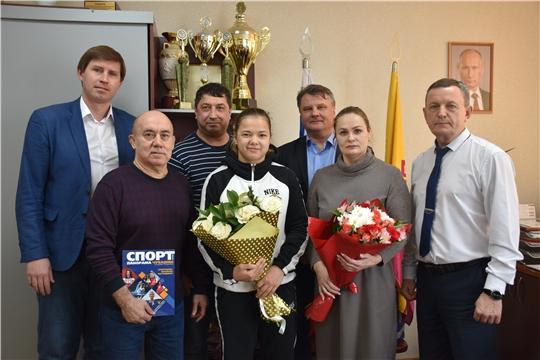 В Минспорте Чувашии прошла встреча с призёром чемпионата Европы по спортивной борьбе Марией Кузнецовой