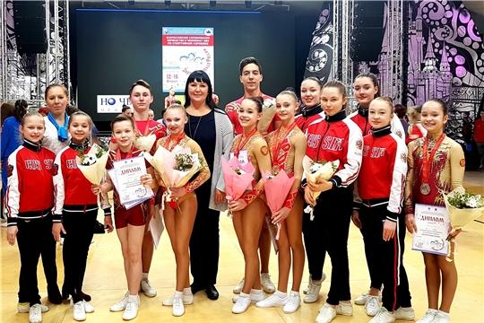 Сборная Чувашии по спортивной аэробике завоевала 5 медалей Всероссийских соревнований