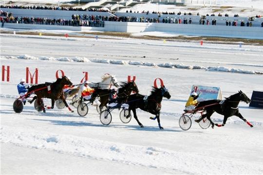 В Чебоксарах состоялись зимние конные бега «Ледяной Кубок Чувашии–2020»