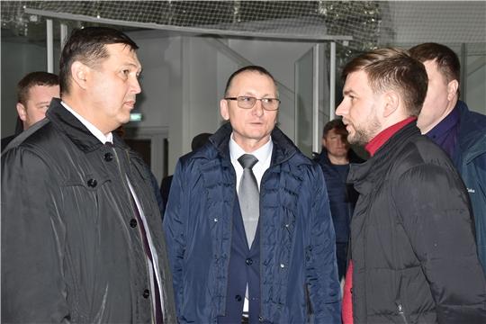 В.Петров проинспектировал ход строительства Регионального центра по хоккею