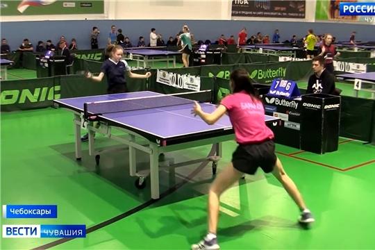 Юные спортсмены из Чувашии успешно выступили на окружных соревнованиях по настольному теннису