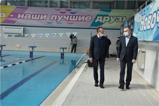 И. о. министра спорта Чувашии побывал на нескольких спортивных объектах Новочебоксарска