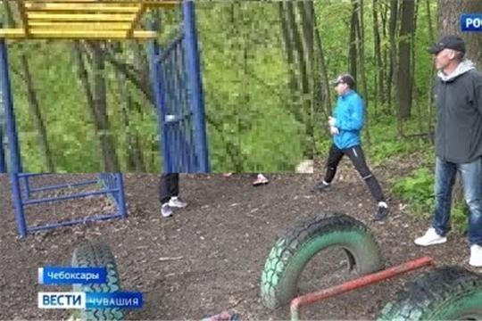 Чувашские легкоатлеты проводят тренировки в лесу
