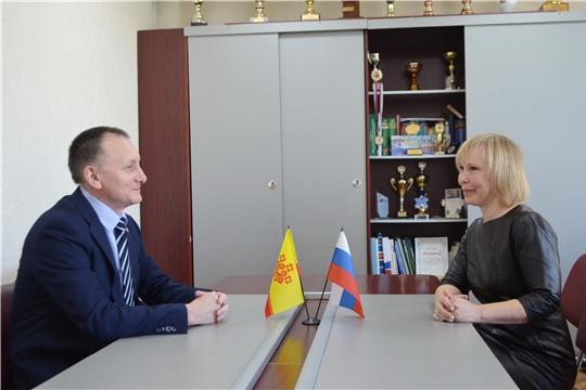 Министр Василий Петров провёл рабочую встречу с руководителем региональной Федерации спортивной гимнастики Ириной Николаевой