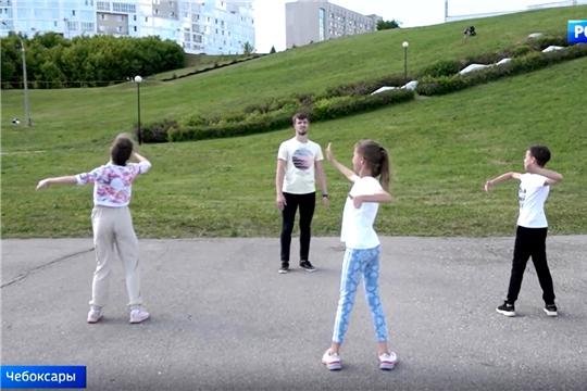 Подопечные федерации танцевального спорта Чувашии тренируются на свежем воздухе