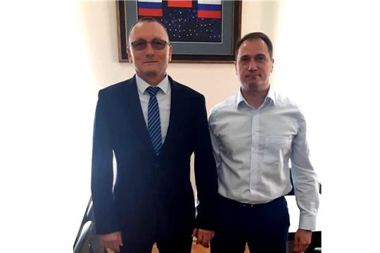 Министр Василий Петров провёл рабочую встречу с директором Департамента спорта высших достижений Минспорта России Алексеем Морозовым