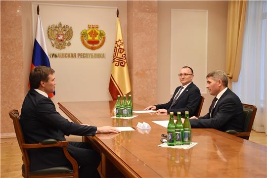 Встреча врио Главы Чувашии с Григорием Дроздом
