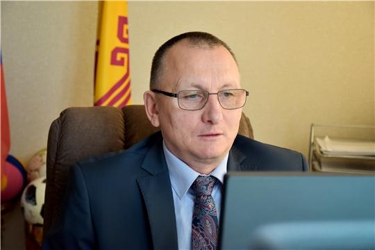 Министр спорта Василий Петров в режиме ВКС принял участие во всероссийском совещании по реализации проекта «Спорт - норма жизни»