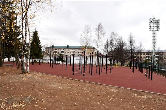Новая спортивная площадка для воркаута