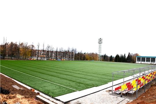 «Спорт – норма жизни»: реконструкция футбольного поля на стадионе «Олимпийский» идет по графику