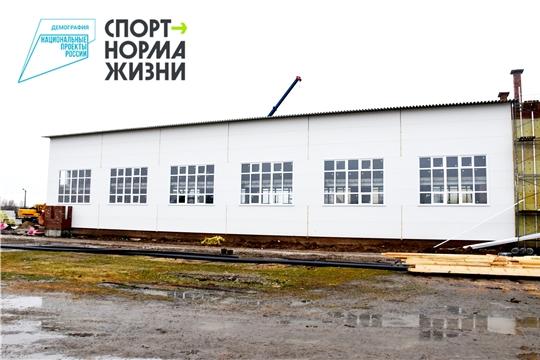 Строительство плавательного бассейна в с. Аликово набирает темп