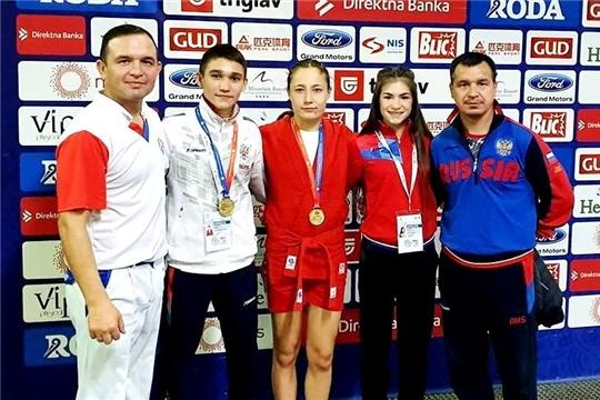Самбисты Чувашии взяли 4 «золота» чемпионата и первенства мира