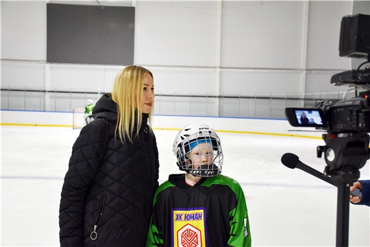 """Грантовый проект «Хоккей без границ». Тренировка команды """"Юман"""""""