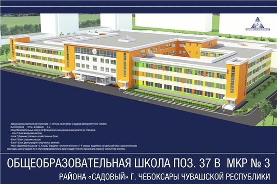 В рамках реализации национального проекта «Образование» объявлен электронный аукцион на строительство школы  в  районе «Садовый» г. Чебоксары