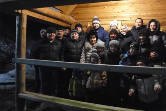 19 января в селе Мусирмы прошли Крещенские купания в купели