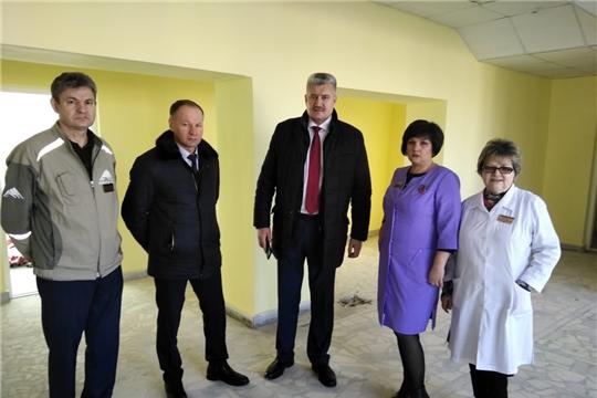 Рабочий визит и.о. министра здравоохранения Чувашской Республики Владимира Викторова в Урмарский район