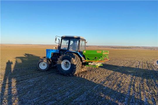 У аграриев Урмарского района напряженная пора –подкормка многолетних трав и озимых зерновых культур.