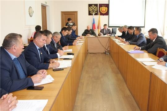 Состоялось первое заседание Урмарского районного Собрания депутатов седьмого созыва