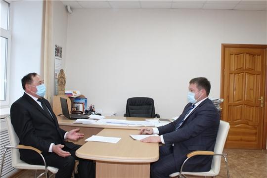 Урмарский район с рабочим визитом посетил исполнительный директор Совета муниципальных образований Чувашской Республики Станислав Николаев