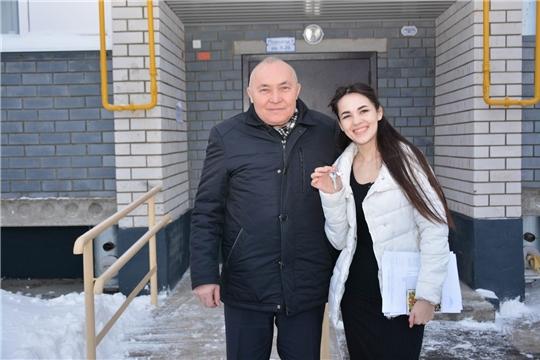 В Вурнарском районе вручили ключи от новых квартир детям-сиротам