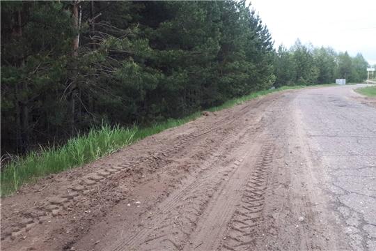 Подрядной организацией проведены работы в рамках летнего содержания муниципальных автодорог